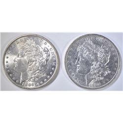 1884-O BU & 1886 CH BU MORGAN DOLLARS