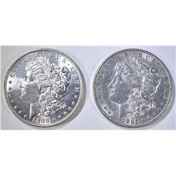 1885 BU & 1886 CH BU MORGAN DOLLARS