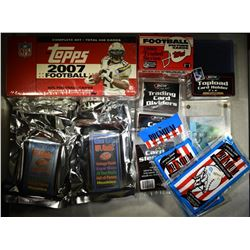 FOOTBALL CARDS AND SUPPLIES- SEE DETAILS