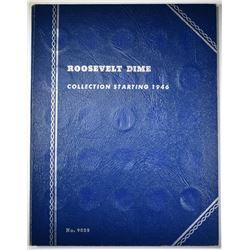 1946-64-D ROOSEVELT DIME SET IN FOLDER