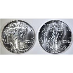 2-1987 BU AMERICAN SILVER EAGLES