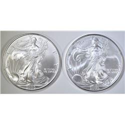 2-2005 BU AMERICAN SILVER EAGLES