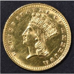 1887 TYPE 3 GOLD DOLLAR BU CLEANED
