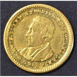 1905 LEWIS & CLARK COMMEM GOLD DOLLAR AU/BU