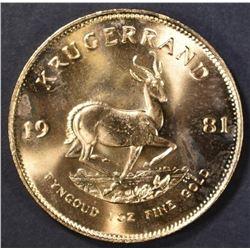 1981 ONE OUNCE FINE GOLD KRUGERRAND