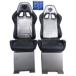 Lot #11 - Marvel's Agents of S.H.I.E.L.D. - Pair of The Bus and Zephyr Three Chairs with Safety Card