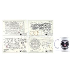 Lot #12 - Marvel's Agents of S.H.I.E.L.D. - Stark Industries 'The Bus' Schematics with S.H.I.E.L.D.