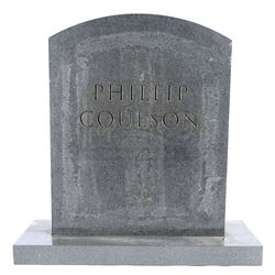 Lot #19 - Marvel's Agents of S.H.I.E.L.D. - Phil Coulson's Tombstone with Mackenzie Family Attachmen