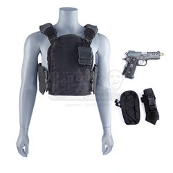 Lot #28 - Marvel's Agents of S.H.I.E.L.D. - Grant Ward's Tactical Vest and Stunt I.C.E.R. Pistol