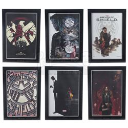 Lot #41 - Marvel's Agents of S.H.I.E.L.D. - Set of Six Framed Season 1 Production Office Prints