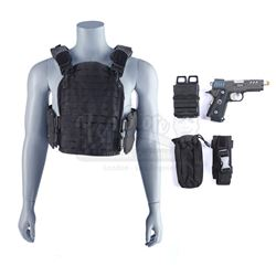 Lot #68 - Marvel's Agents of S.H.I.E.L.D. - Grant Ward's Tactical Vest and Bloodied Stunt I.C.E.R. P