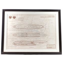 Lot #124 - Marvel's Agents of S.H.I.E.L.D. - Framed Stark Industries 'The Bus' Blueprint