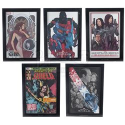 Lot #134 - Marvel's Agents of S.H.I.E.L.D. - Set of Five Framed Season 2 Production Office Prints