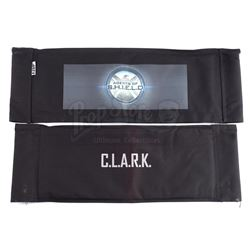 Lot #149 - Marvel's Agents of S.H.I.E.L.D. - Phil Coulson 'C.L.A.R.K.' Cast Member Chairback with Ad