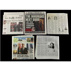 Lot #172 - Marvel's Agents of S.H.I.E.L.D. - Set of Five Newspapers