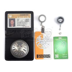 Lot #203 - Marvel's Agents of S.H.I.E.L.D. - Leo Fitz's S.H.I.E.L.D. ID, Badge, and Lanyards