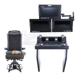 Lot #210 - Marvel's Agents of S.H.I.E.L.D. - Zephyr One's Control Panel with Chair and Monitors