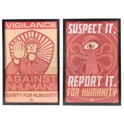 Lot #220 - Marvel's Agents of S.H.I.E.L.D. - Pair of Hydra Propaganda Posters