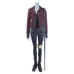 Lot #305 - Marvel's Agents of S.H.I.E.L.D. - Melinda May's Kree Fight Costume with Battle Staff