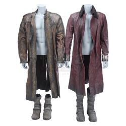 Lot #306 - Marvel's Agents of S.H.I.E.L.D. - Red Kree Coat and Brown Kree Trooper Coat with Boots
