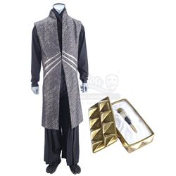 Lot #313 - Marvel's Agents of S.H.I.E.L.D. - Kasius' Costume with Gold-Colored Odium Box and Vial