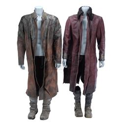 Lot #347 - Marvel's Agents of S.H.I.E.L.D. - Red Kree Coat and Brown Kree Coat with Two Pairs of Boo