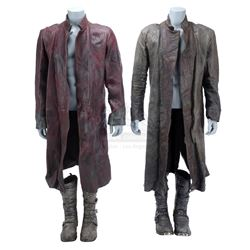 Lot #361 - Marvel's Agents of S.H.I.E.L.D. - Red Kree Coat and Gray Kree Coat with Two Pairs of Boot