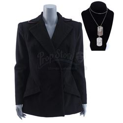 Lot #381 - Marvel's Agents of S.H.I.E.L.D. - General Hale's Overcoat and Dog Tags