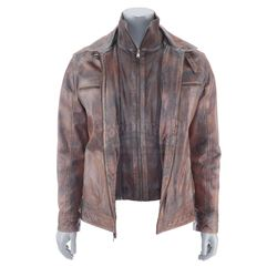 Lot #382 - Marvel's Agents of S.H.I.E.L.D. - Deke Shaw's Stunt Brown Leather Jacket