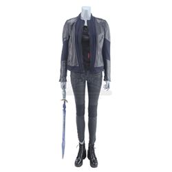 Lot #414 - Marvel's Agents of S.H.I.E.L.D. - Melinda May's Bloodied Stunt Izel Fight Costume with Sw