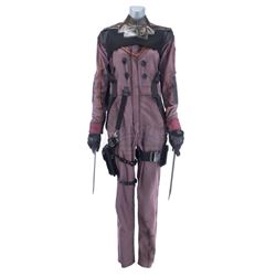 Lot #429 - Marvel's Agents of S.H.I.E.L.D. - Izel's Partial Bullet-Riddled Costume with Sword