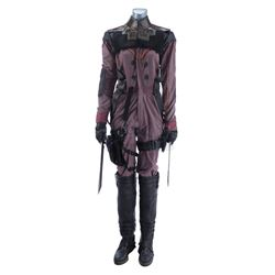 Lot #454 - Marvel's Agents of S.H.I.E.L.D. - Izel's Bullet-Riddled Costume with Sword