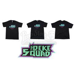 Lot #535 - Marvel's Agents of S.H.I.E.L.D. - Three Deke Squad Men's Shirts and Band Sign