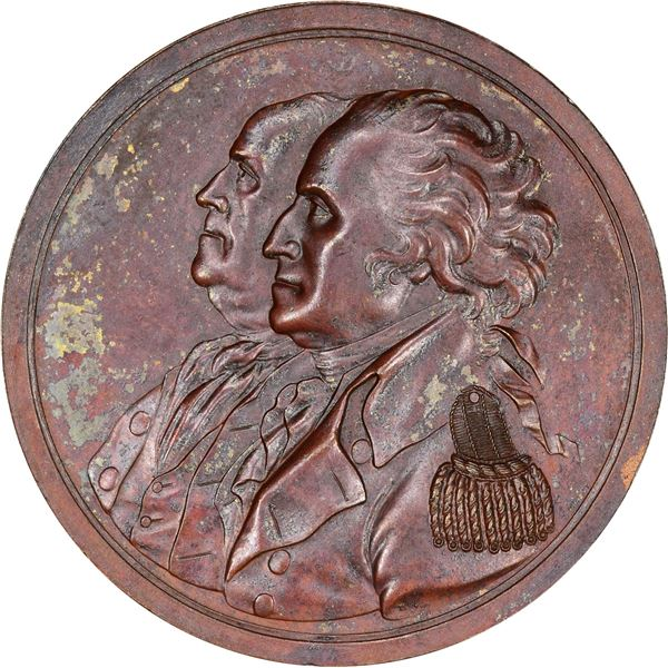 """1783"" (1805) Sansom Peace of 1783 Medal. Baker-58A. Bronze."