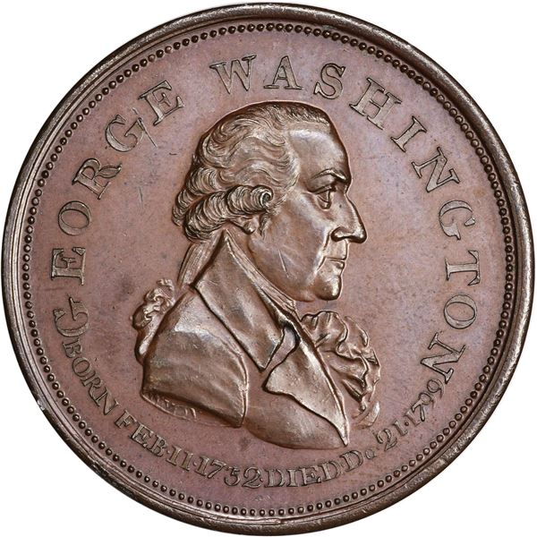 Undated (1800) Repub. Ameri. Medal or Penny. Baker-69. Bronze. Plain Edge. AU