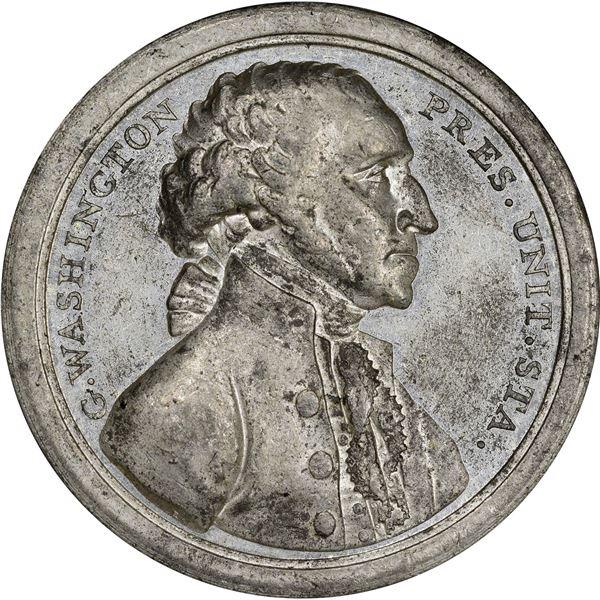 1805 Sansom Medal. Original Dies. Baker-71B. White Metal. EF