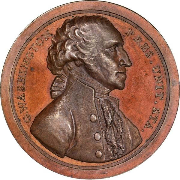 """1797"" (Circa 1859 and later) Presidency Relinq Sansom Medal. Baker-72A. Second Reverse. Red Bronze."