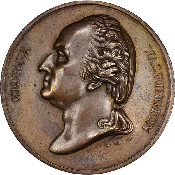 Undated (post-1799) Wright & Bale George Washington Medal. Baker-75A. Copper. AU