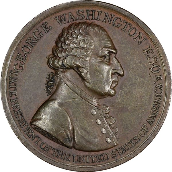 1799 (circa 1800) Westwood George Washington, Esq. Medal. Baker-81. Second Reverse. Bronze. EF