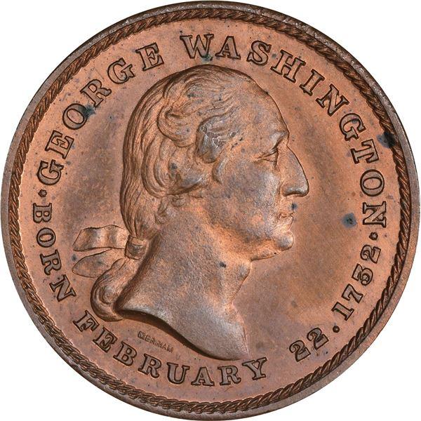 Washingtoniana. Quintet of Popular Washington Medals.
