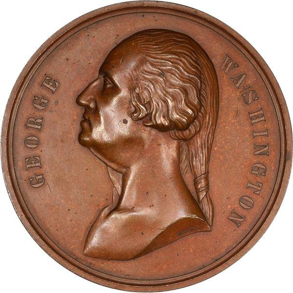 Undated (1883) Washington Si Quaeris Monumentum Medal. Baker-96. Bronze.