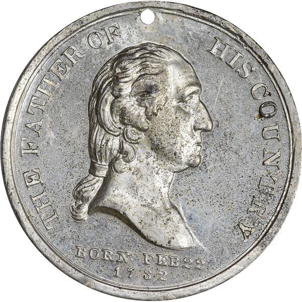 1848 Washington National Monument Medal. Baker-320. White Metal. AU