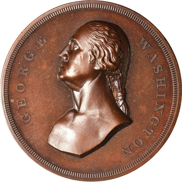 Circa 1885 Washington Monument Dedicated Medal. Baker N-322. First Obverse. Copper.