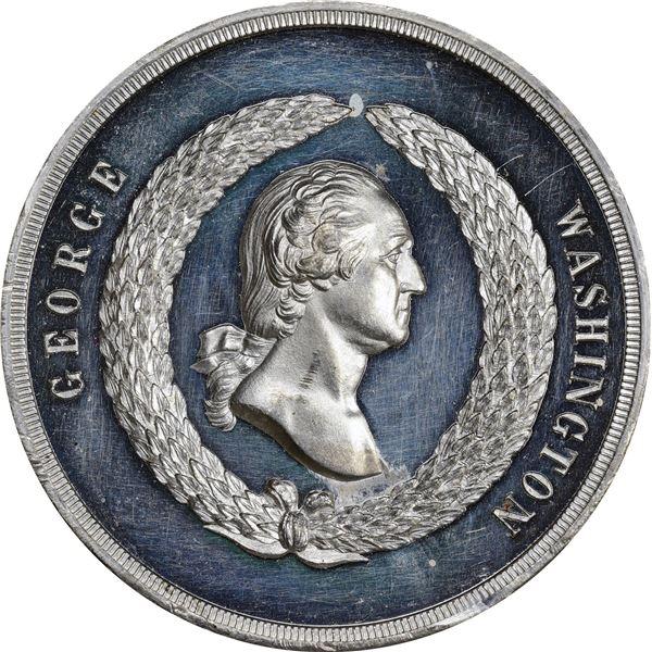 Circa 1885 Washington Monument Dedicated Medal. Baker O-322. Second Obverse. White Metal.