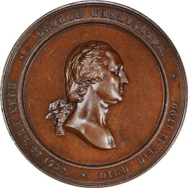 1860 Washington Cabinet of Medals, U.S. Mint Medal. Baker-326A. Bronze.