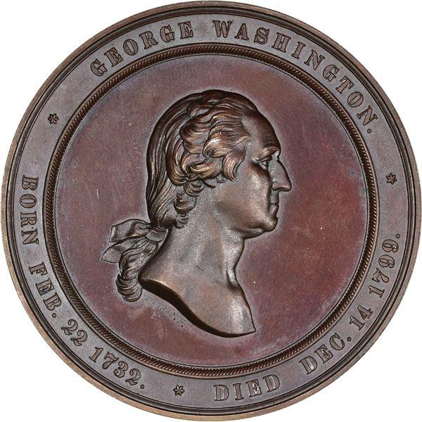 1860 Washington Cabinet of Medals, U.S. Mint Medal. Baker-326A. Bronze. EF