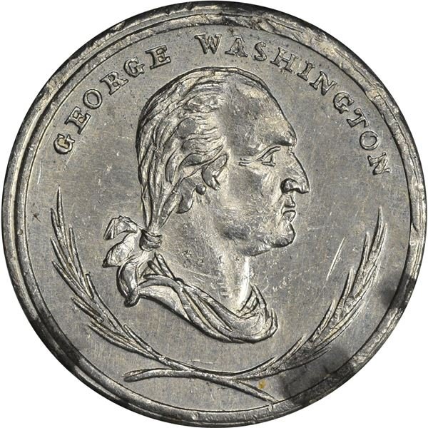 1859 Augustus B. Sage Coin Dealer Token. Baker-570. White Metal.