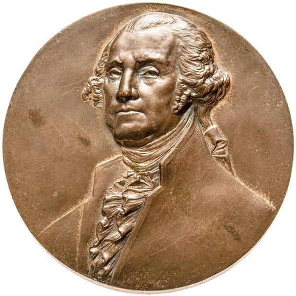 1925 George Washington Sons of the American Revolution National Society Medal. Bronze. Choice About
