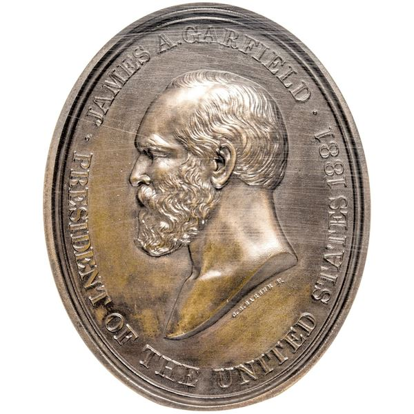 United States. Mint Medal. Circa 1881 (Circa 1882) James A. Garfield Indian Peace Medal. Julian IP-4