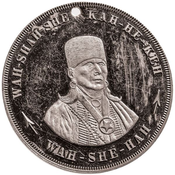 United States. Private Issue. 1911 Indian Peace Medal. German Silver. Choice Cameo Prooflike Uncircu